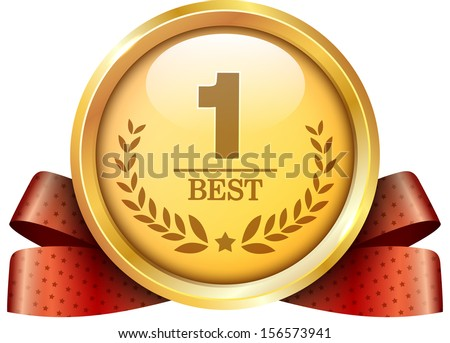 gold medal icon  - stock vector