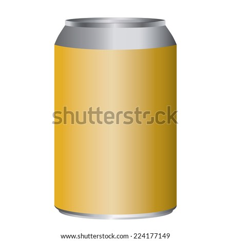 Gold metal can adjustable high size isolated on white - stock vector
