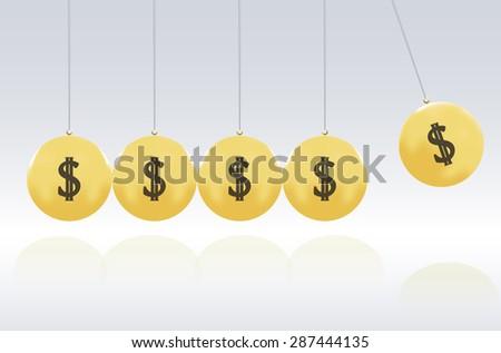 gold momemtum - stock vector
