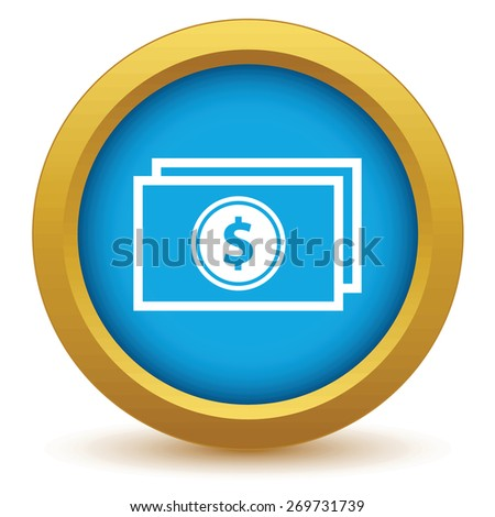 Gold money icon on a white background. Vector illustration