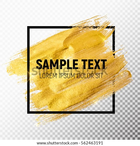 Gold Paint Glittering Textured Art Illustration. Vector Illustration EPS10