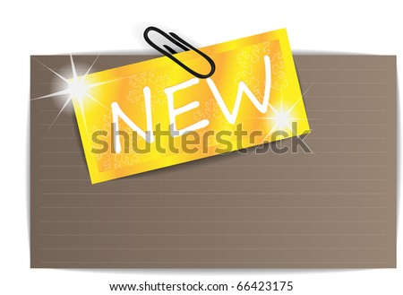 Gold paper tag - stock vector