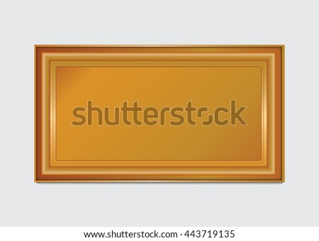 gold photo frame with corner, gold frame floral vector for picture and corner line thai style. gold frame pattern,frame corner image,frame vintage old,frame vector sign,frame metal gold,frame picture - stock vector