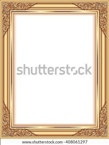 Gold Photo Frame Corner Thailand Line Stock Vector 408061297 ...