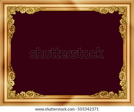 Gold Photo Frames Corner Thailand Line Stock Vector 503342371 ...