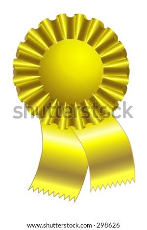Gold Ribbon - Illustrator ten or CS - stock vector