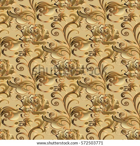 leaf scroll wallpaper vintage patterns - photo #12