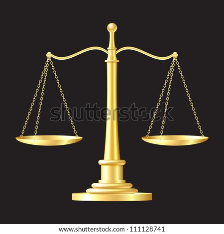 gold scales on black background. vector illustration - stock vector