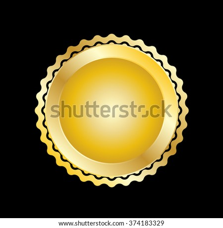Gold Seal . Vector Gold Seal . Stamp Gold Seal . Metal Gold Seal . Golden Gold Seal . Medal Gold Seal . Emblem Gold Seal . Badge Gold Seal . Label Gold Seal . - stock vector