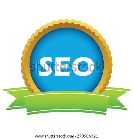 Gold seo logo on a white background. Vector illustration - stock vector