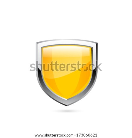 Gold shield. Vector - stock vector