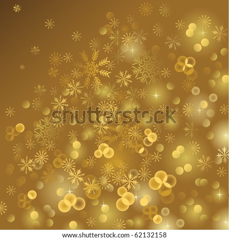 gold shiny  Christmas background - stock vector