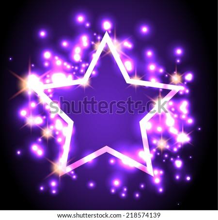 Gold Shiny Star - stock vector
