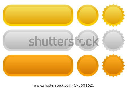 Gold , Silver , Bronze form set - stock vector