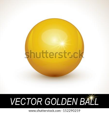Gold sphere, vector golden ball. - stock vector