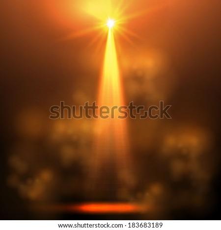 gold spotlight background - stock vector