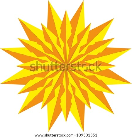 gold star - stock vector