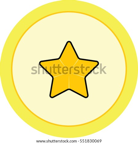 gold star favorite icon