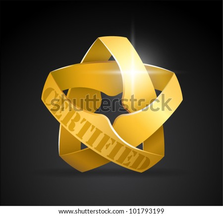 gold star ( for your text, certified, gold medal, champion, guarantee...) - stock vector