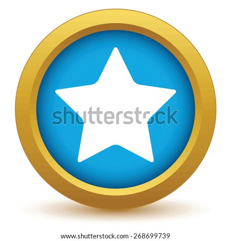 Gold star icon on a white background. Vector illustration - stock vector