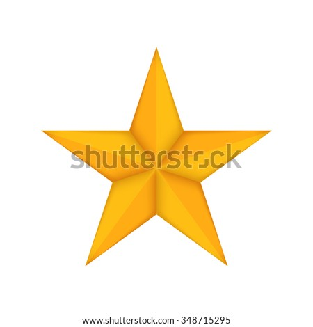 Gold star icon - Vector