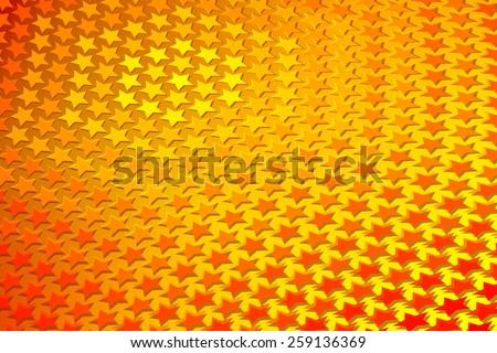 Gold Star Pattern - stock vector