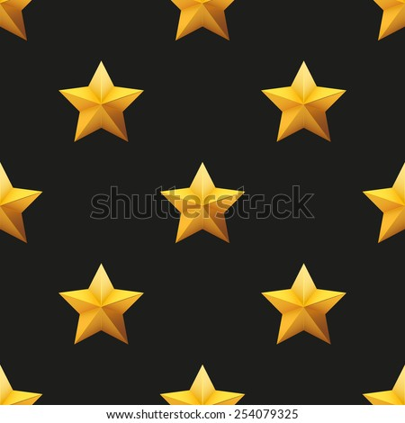 Gold Star Universal vector seamless patterns tiling. Endless texture can be used for wrapper, cover, package, pattern fills, surface textures.