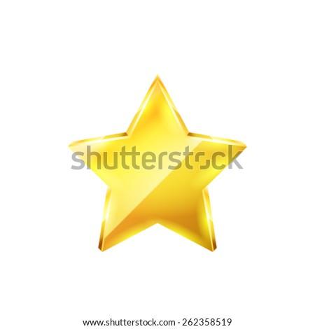 Gold star vector - stock vector