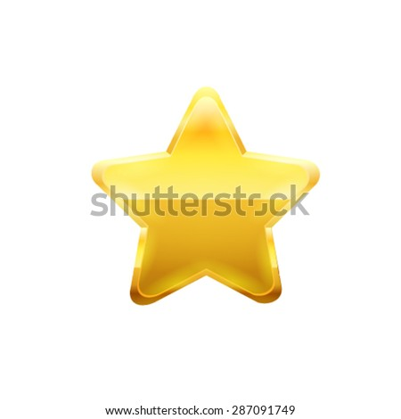 Gold star. Vector