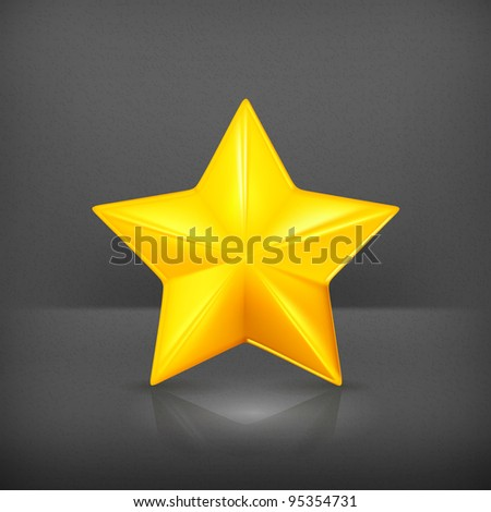 Gold star, vector - stock vector