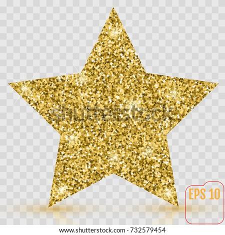 Gold Star Vector Banner Gold Glitter Stock Vector ...
