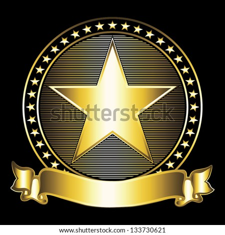 Gold star. Vector illustration EPS10 - stock vector