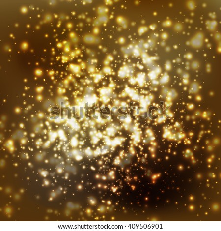 gold stars abstract background