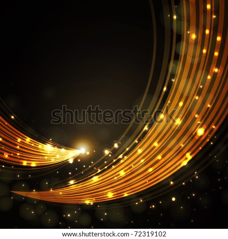 gold stylish fantasy background - stock vector