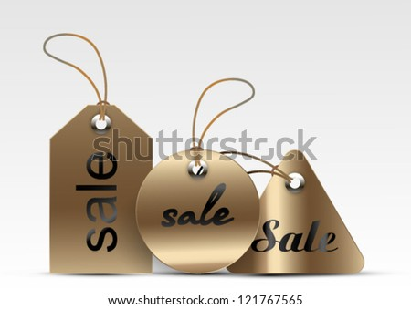Gold Tags - stock vector