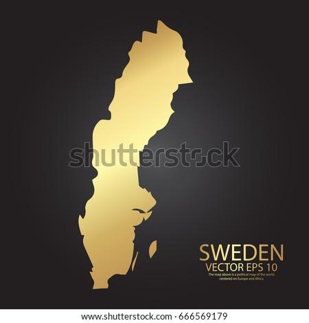 Sverige Map Stock Images RoyaltyFree Images Vectors Shutterstock - Sweden map template