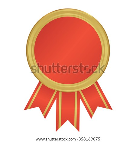 gold the winner ribbon award on background, vector illustration