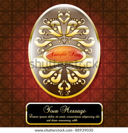 Gold Themed Decoration with Copy-space - stock vector