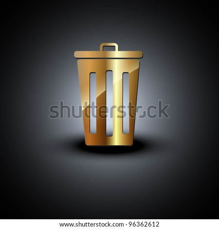 Gold trash - stock vector