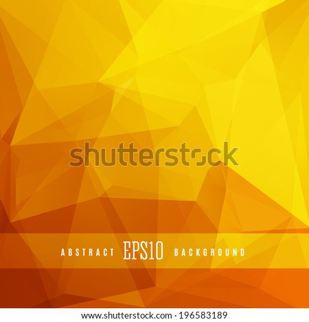 Gold triangle abstract design background template - stock vector