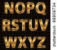 Gold Vector Alphabet Set - stock vector
