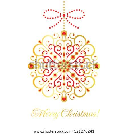 Gold vector decoration. Christmas card. EPS 10 vector illustration. CMYK. - stock vector