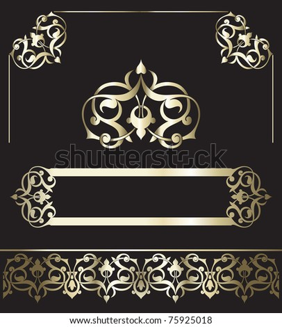 gold vintage - stock vector