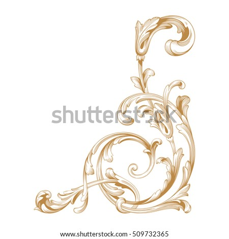 Baroque Swirl Stock Images Royalty Free Images Vectors