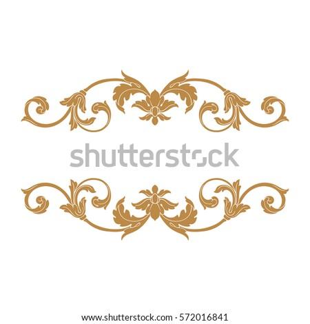Gold vintage baroque ornament retro pattern stock vector 572016841 gold vintage baroque ornament retro pattern antique style acanthus decorative design element filigree calligraphy vector junglespirit Image collections