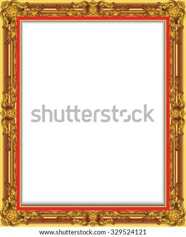 Gold Vintage Frame. Decorative Vector Frame with Place for Text, Picture or Design, luis frame design - stock vector
