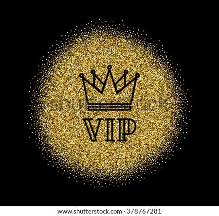 Gold Vip Logo Line Style Vector Stock Vector 378767272