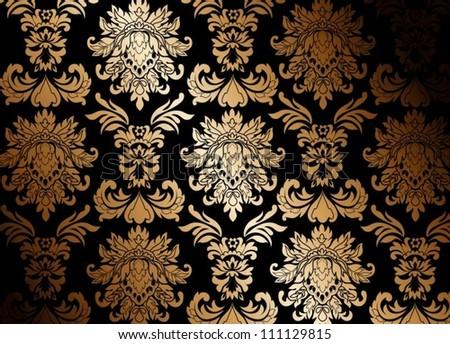 gold wallpaper - stock vector