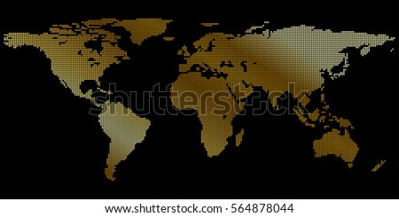 gold world map for your desktop background