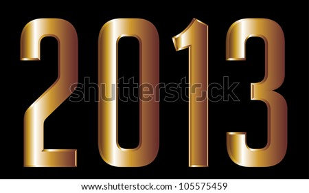 gold year 2013 - stock vector